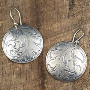 1 Concho Earring By IM Silver