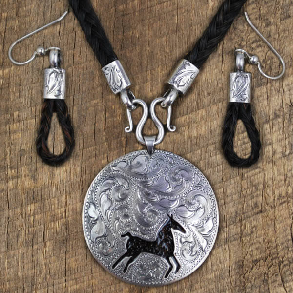IM Silver Horsehair Jewelry