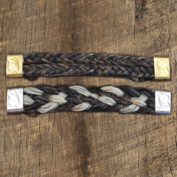 Horsehair Hair Barrettes by IM SIlver
