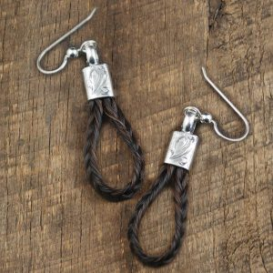 Horsehair Earrings By IM Silver