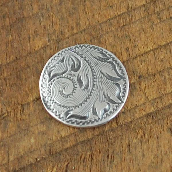 Silver Half Inch Concho by IM Silver