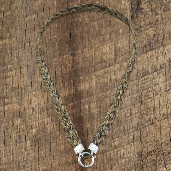 Horsehair Necklace Large flax