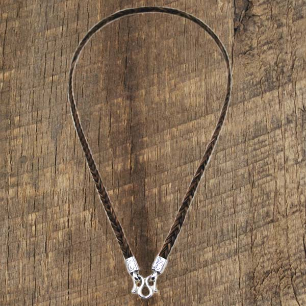 Horsehair Necklace Small Flat Braid
