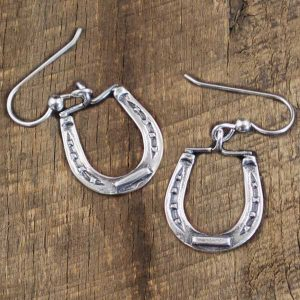 Large Horseshoe Earring By IM Silver