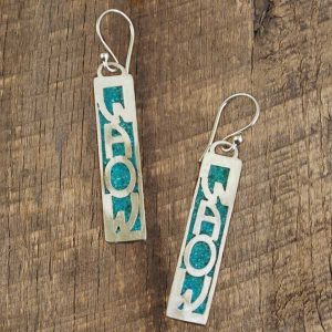 WAOW Inlayed Earring-turquoise