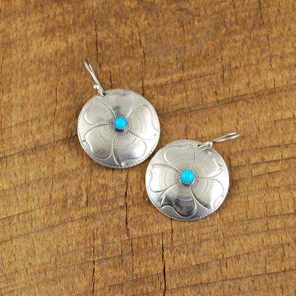"""1"""" Concho Earrings"""