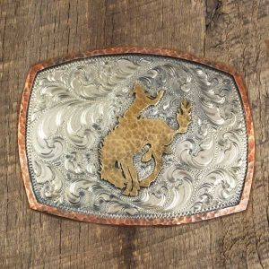 Saddle bronc buckle